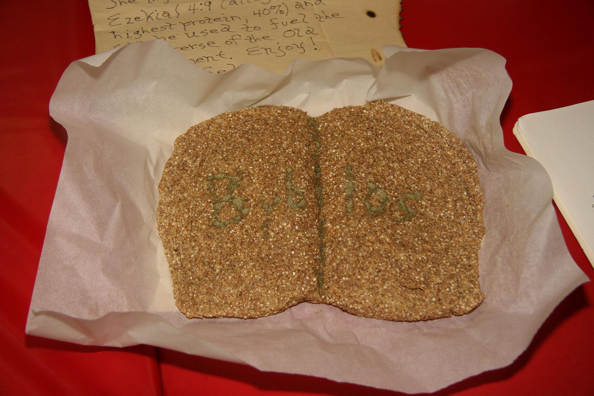 """The Book of Byblos (a.k.a. Bible)"" created by Dennis Flatt; 2011 KBAC Edible Book entry"