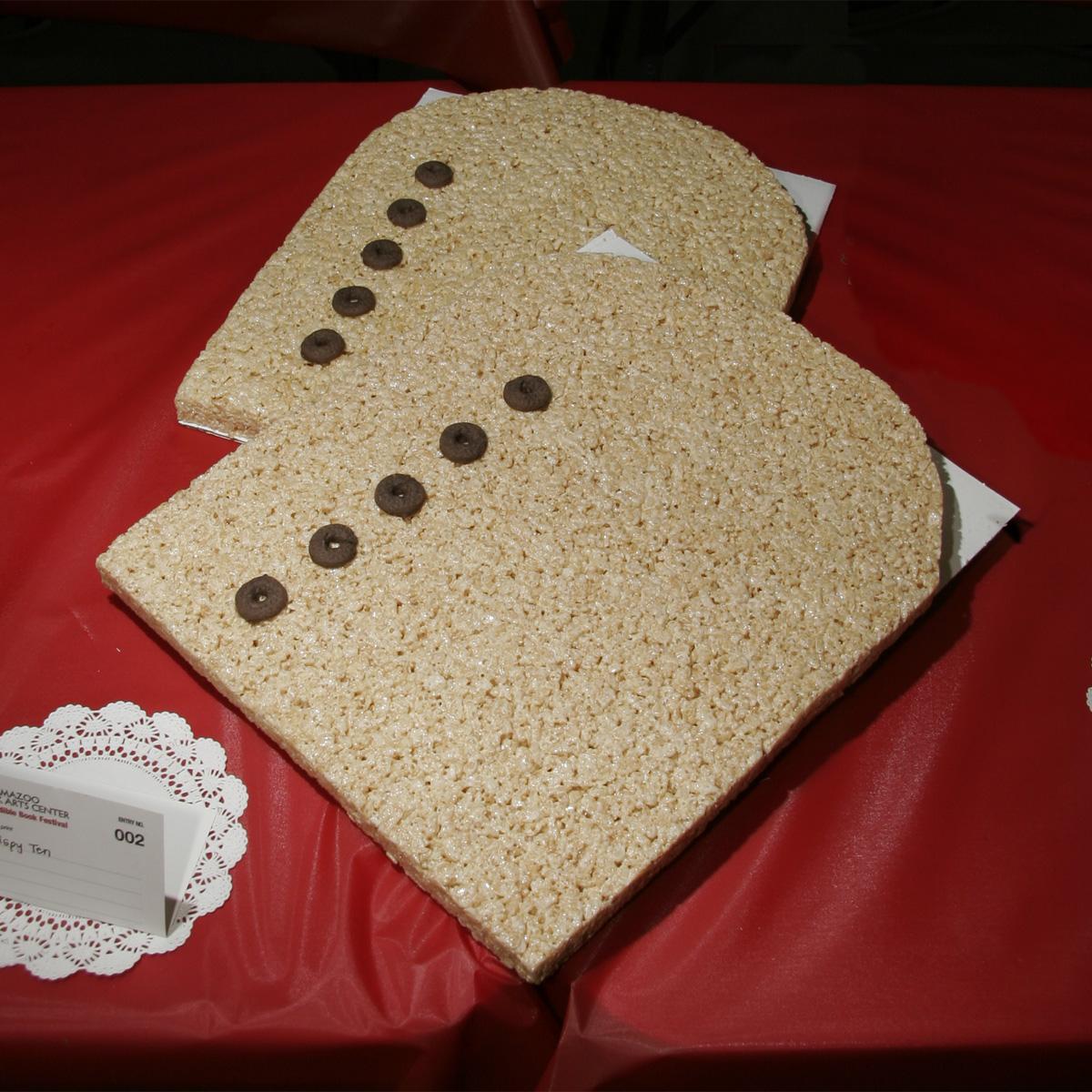 """The Crispy Ten"" created by Marianne Swierenga, 2010 KBAC Edible Book Festival"