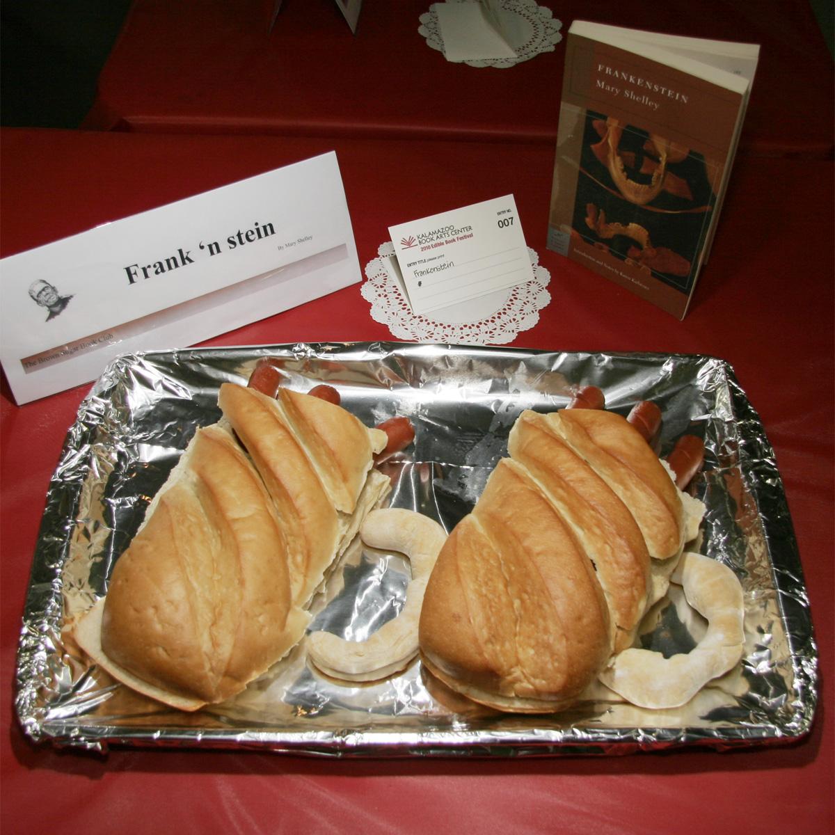 """""""Frank 'n Stein"""" created by Brown Sugar Book Club, 2010 KBAC Edible Book Festival"""