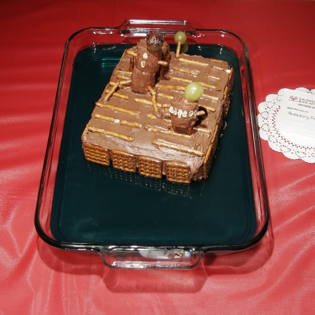 """Huckleberry Finn"" created by Natally Bones & Nevada Rickert, 2010 KBAC Edible Book Festival"