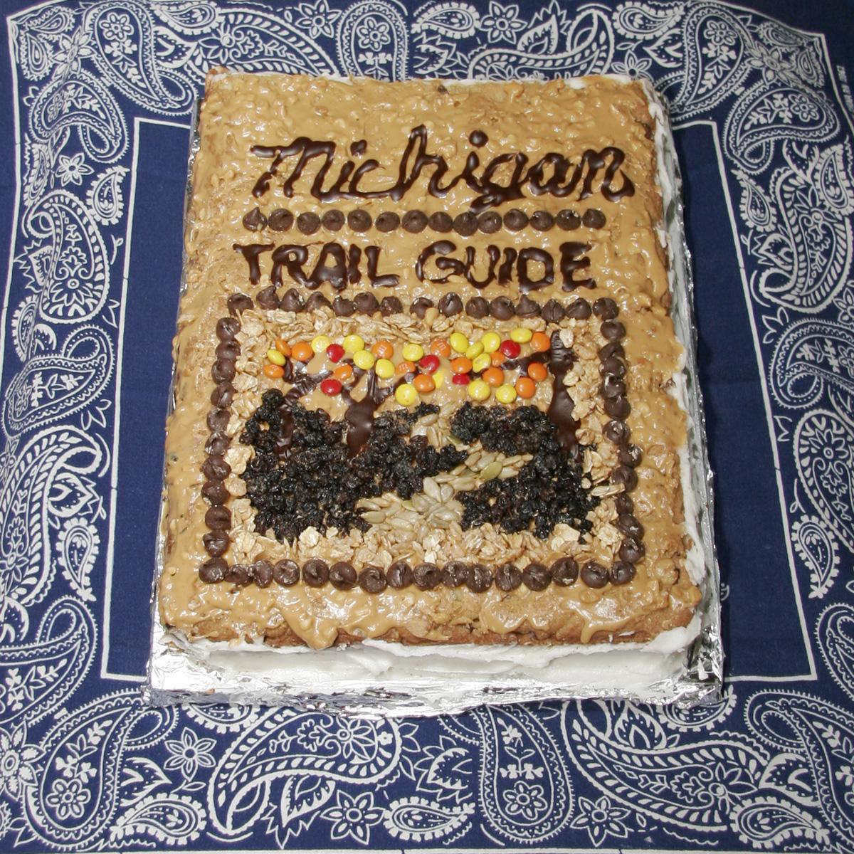 """Michigan Trail Guide"" created by Jean Stevens, 2010 KBAC Edible Book Festival"