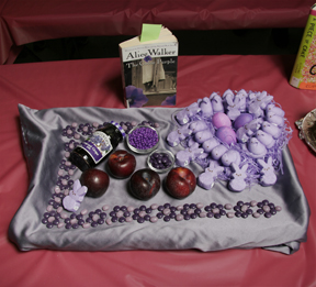 """The Color Purple"" by the Brown Sugar Book Club; 2009 Edible Book Festival entry"