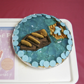 """Life of Pi"" by Deb Howard; 2009 Edible Book Festival entry"