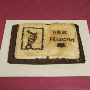 """Greek Fillosophy"" by Jeff Abshear; 2009 Edible Book Festival entry"