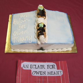 "JUDGE'S AWARD: ""An Éclair for Owen Meany"" by Missy Sander; 2009 Edible Book Festival winner"