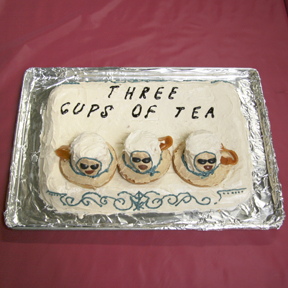 """Three Cups of Tea"" by Sara Keller; 2009 Edible Book Festival entry"