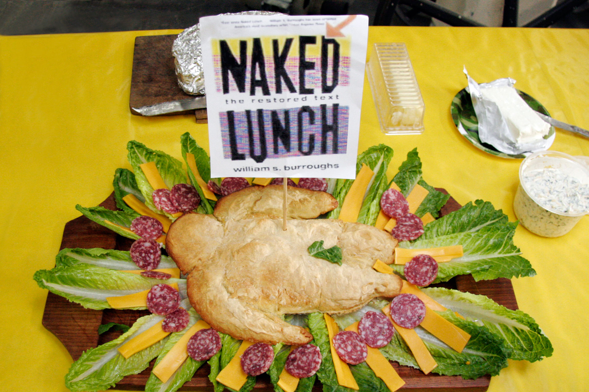 """Naked Lunch"" by Paul Robbert; 2008 Edible Book Festival entry"