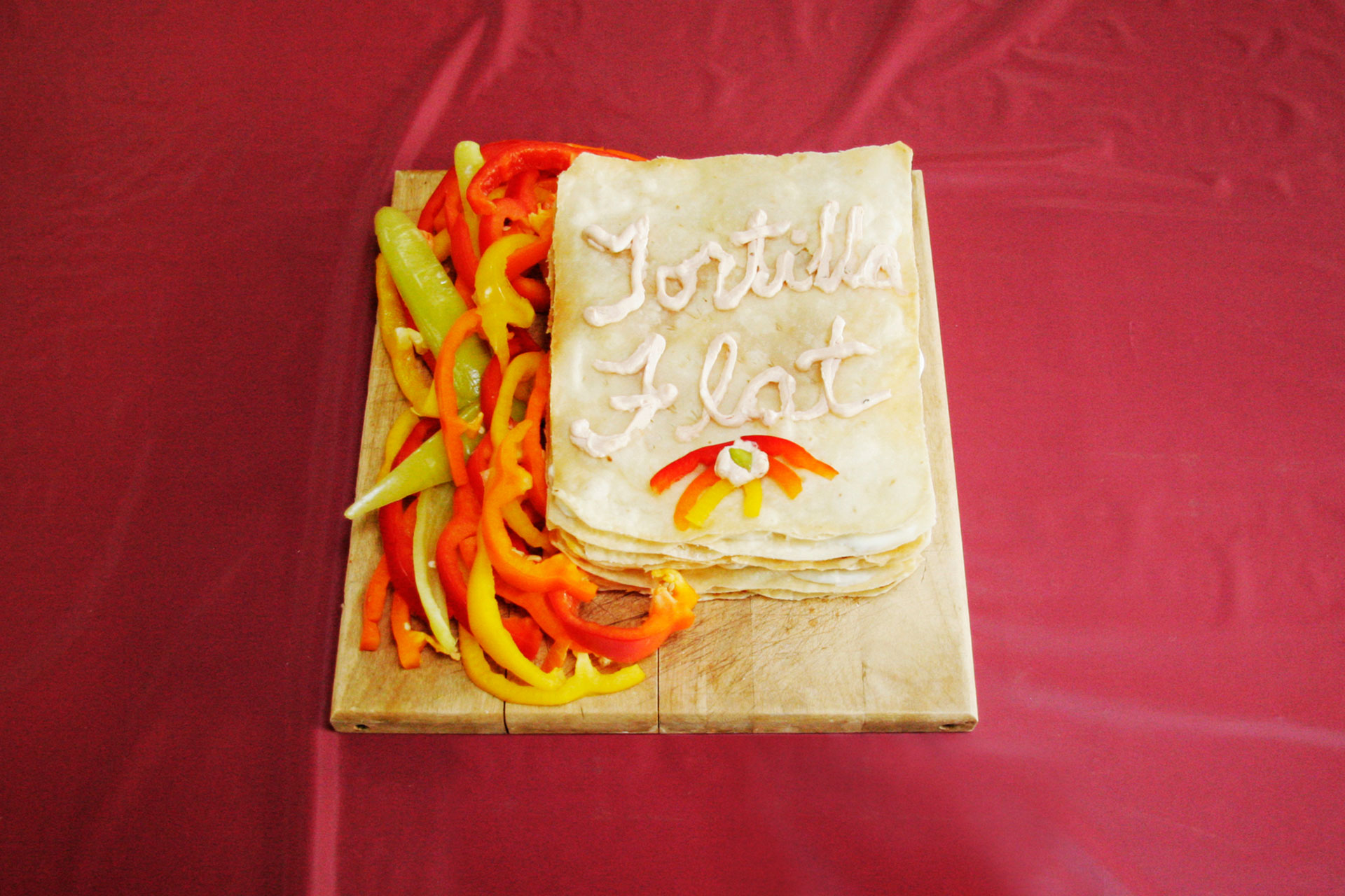 """Tortilla Flat"" by Jeff Abshear; 2008 Edible Book Festival entry"