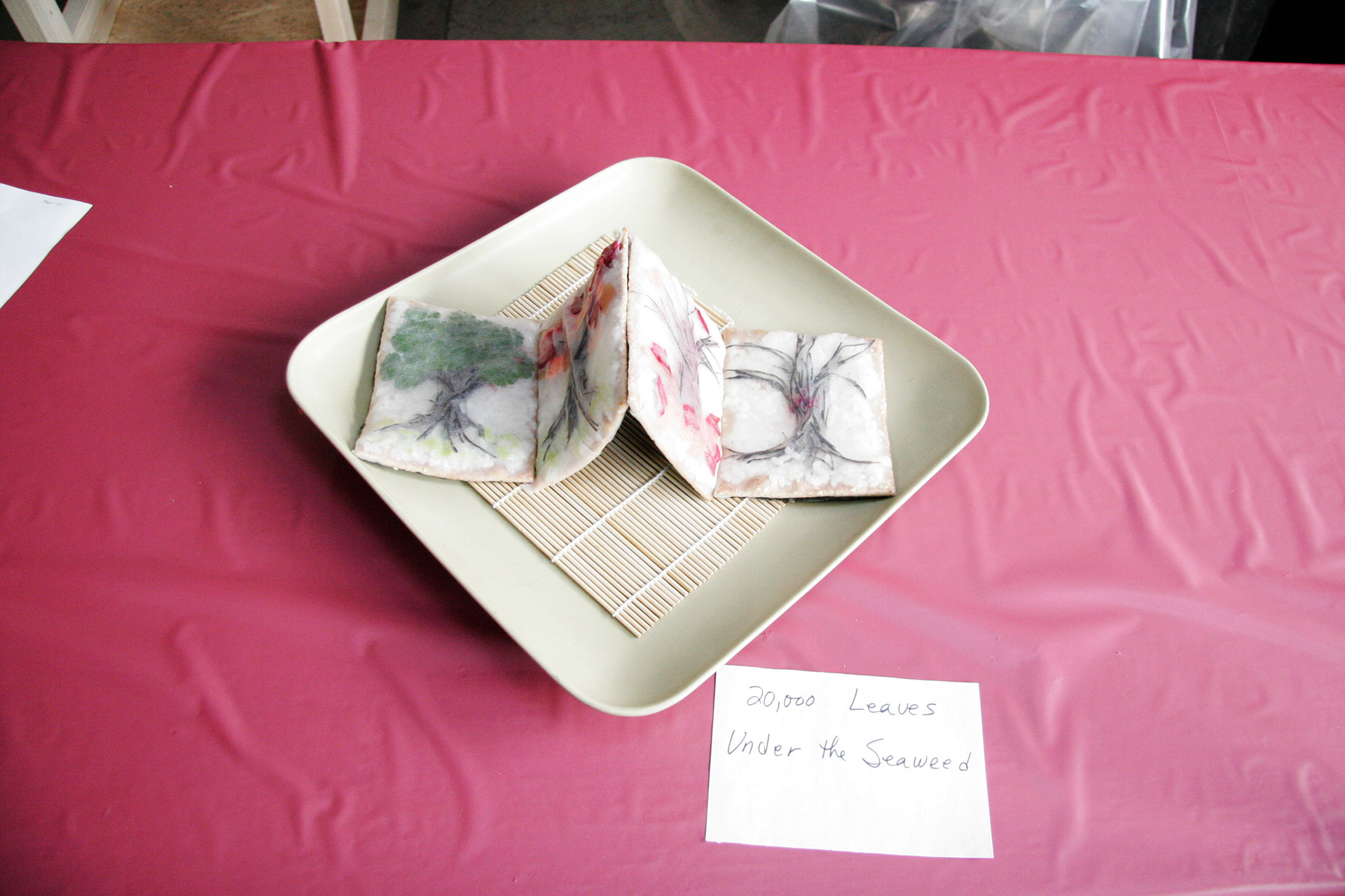 """20,000 Leaves Under the Seaweed"" by Chris Dilley and Lucy Bland; 2008 Edible Book Festival entry"