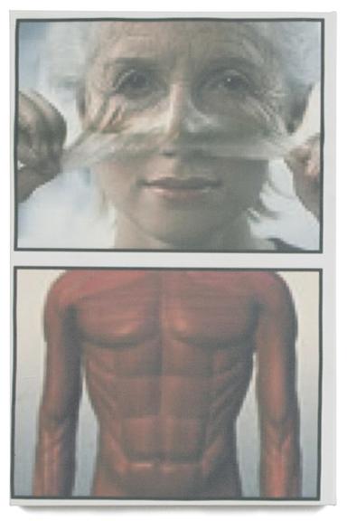 Jeffery Evergreen, Self Portrait as the Recipient of Direct Marketing, inkjet on canvas, 2014