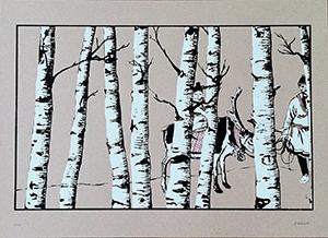 Laurel Premo, Lapland, Silkscreen