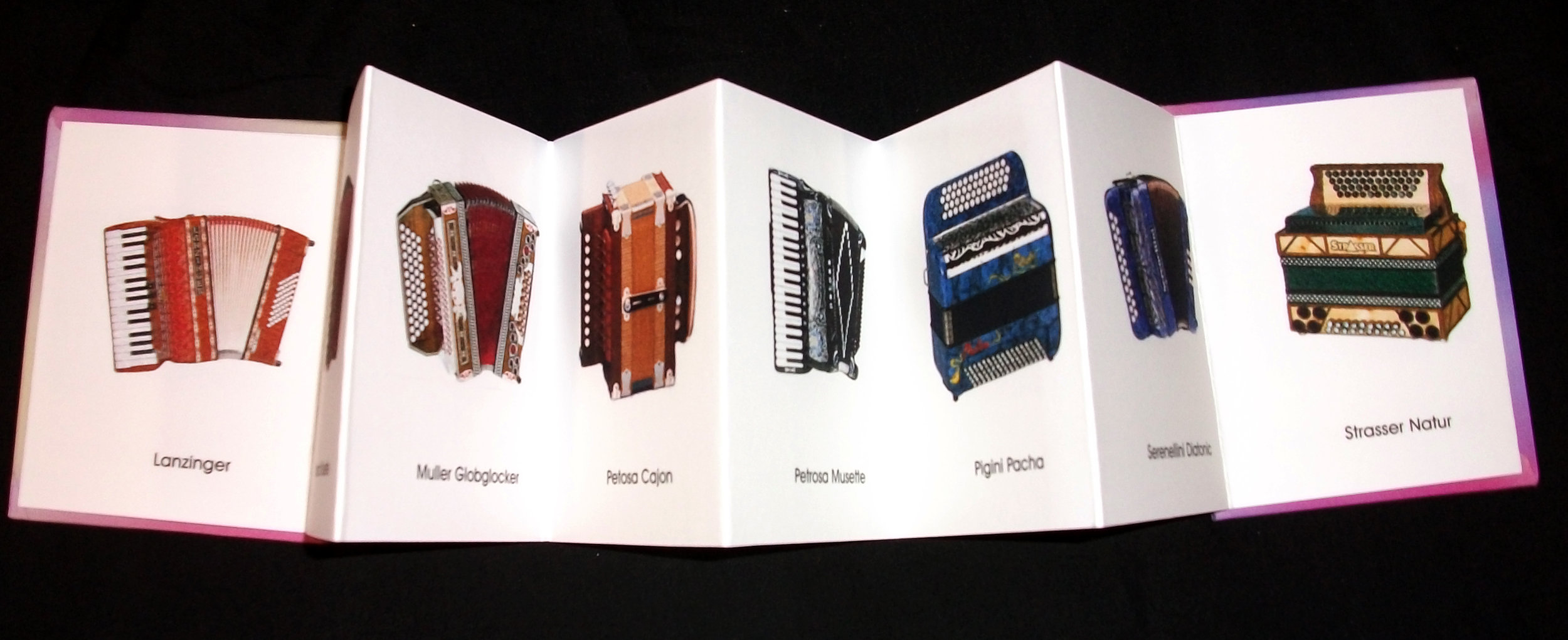 Rich Troncone,  Accordion Book of Accordions,  inkjet print on watercolor paper, board, 2008, Los Angeles, CA