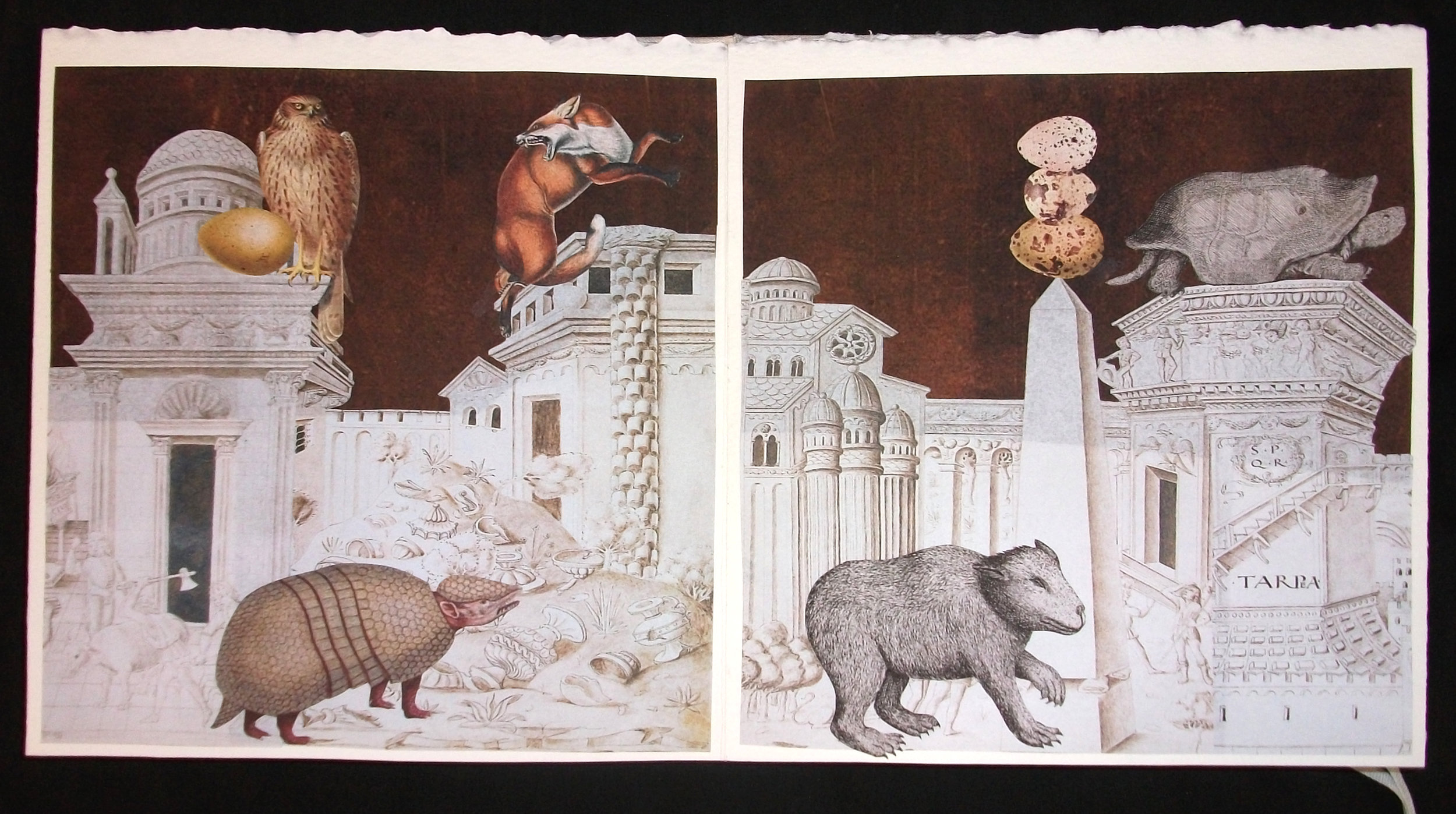 Lynn Skordal,  La Cite Des Animaux,  OOAK Collaged artist Book, 2011, Mercer Island, WA