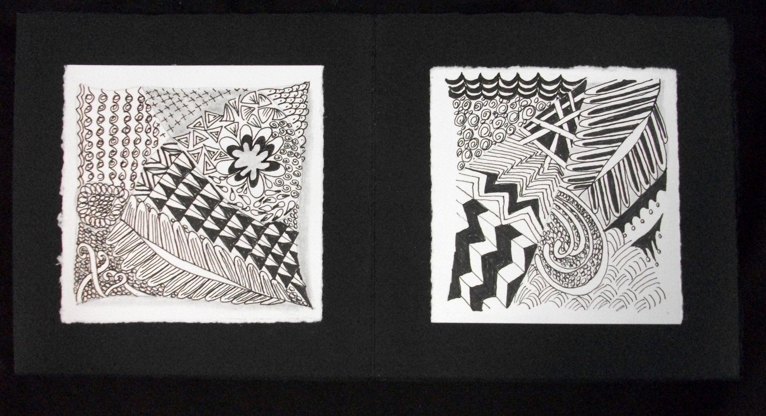 Jo Diamantes,  Learning to Zen Tangle,  Pen and Ink, 2012, Westchester, OH