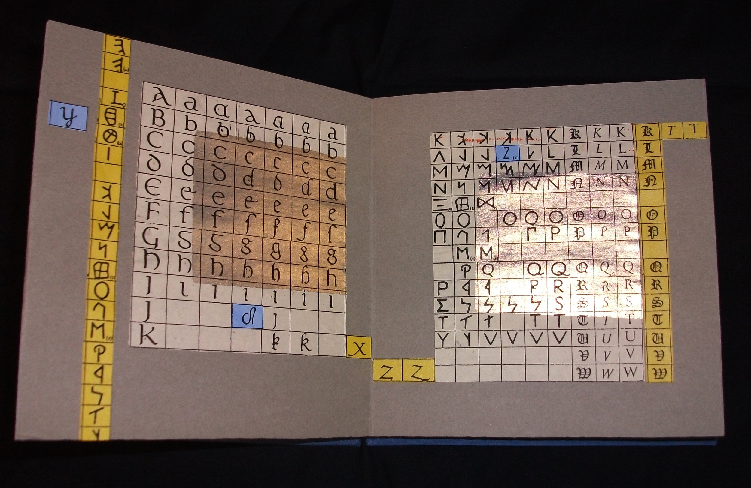 Evelyn Eller,  More Alphabets,  Unique Mixed Media Artist Book, 2009, New York, NY