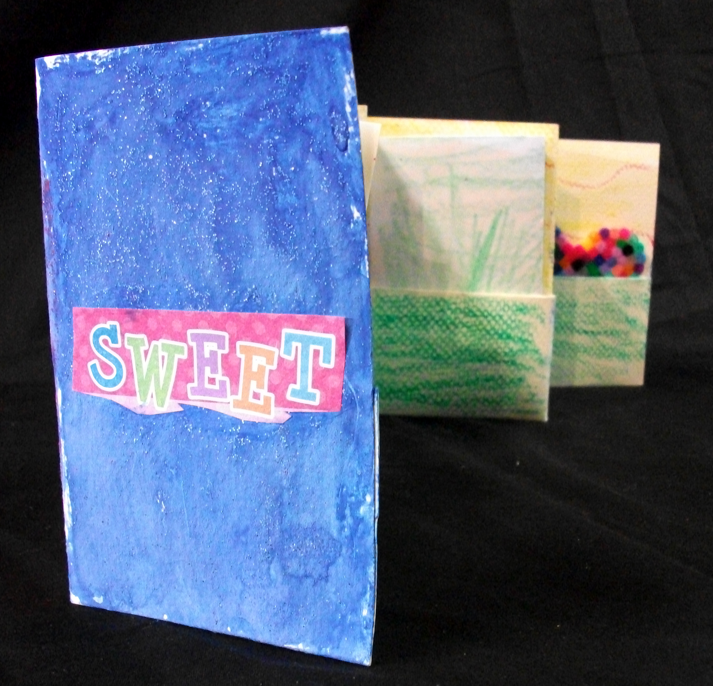 Lucy VanDemark,  Sweet,  Paper, Crayons, Mixed Media, Photos, 2012, Middleville, MI