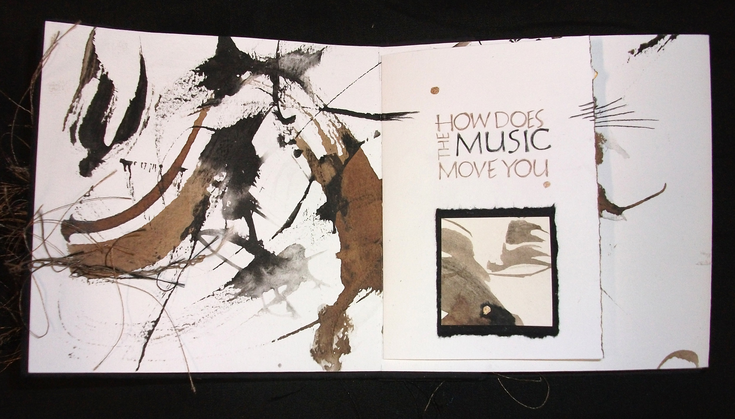 Julie Kechele,  How Does the Music Move You,  Mixed--Sumit and Walnut Ink, Pencil, 2011, Plainwell,MI