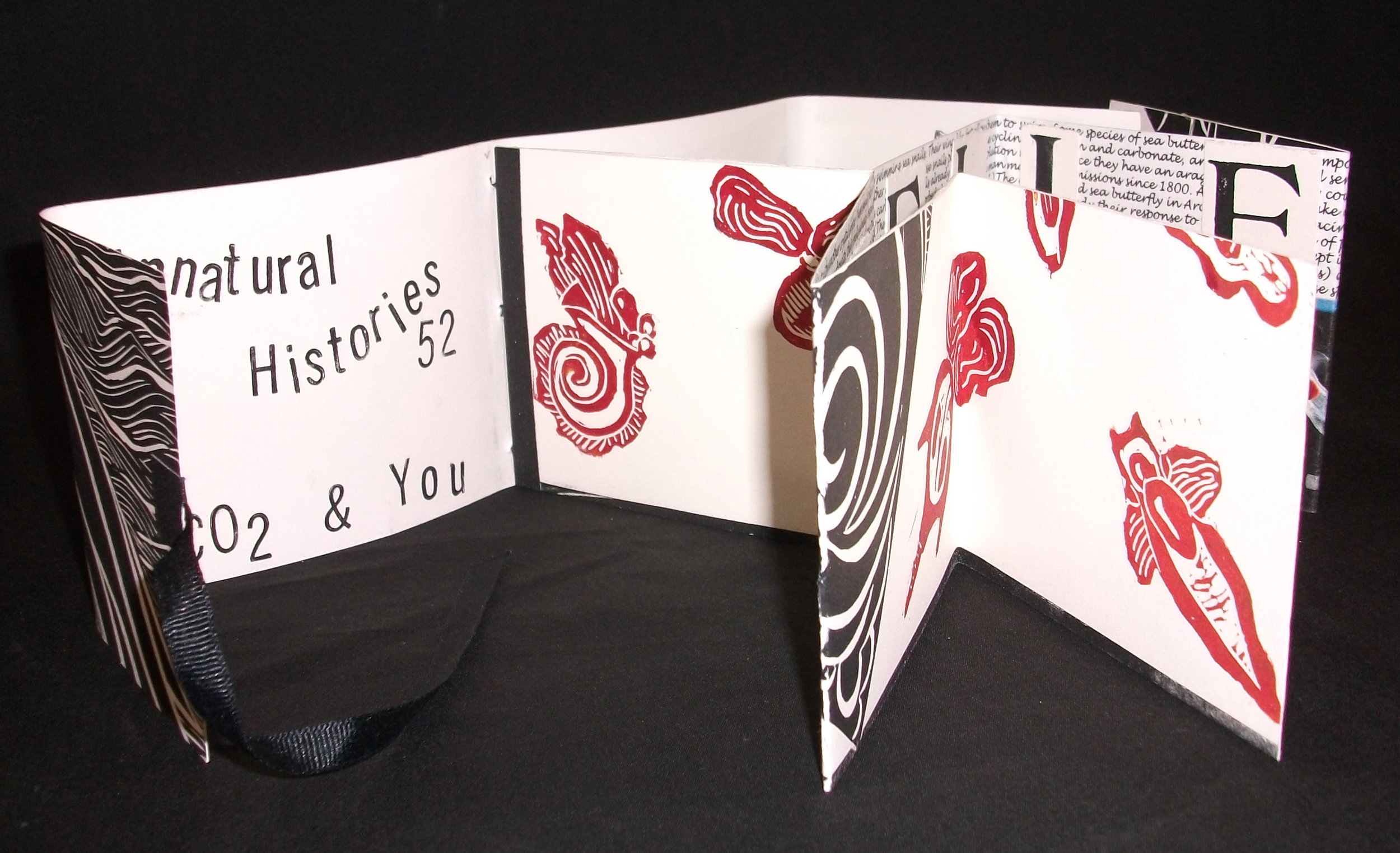Unnatural Histories 42, Barbara Milman, Collage, Digital, Linocut, Type, California, 2010