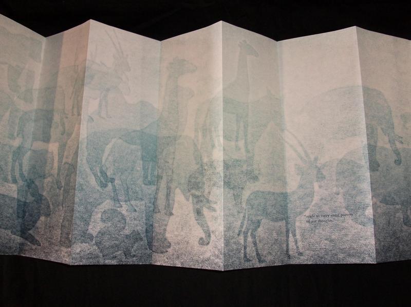 Jessica C. White, Beasts of Burden, Letterpress Print, 2008