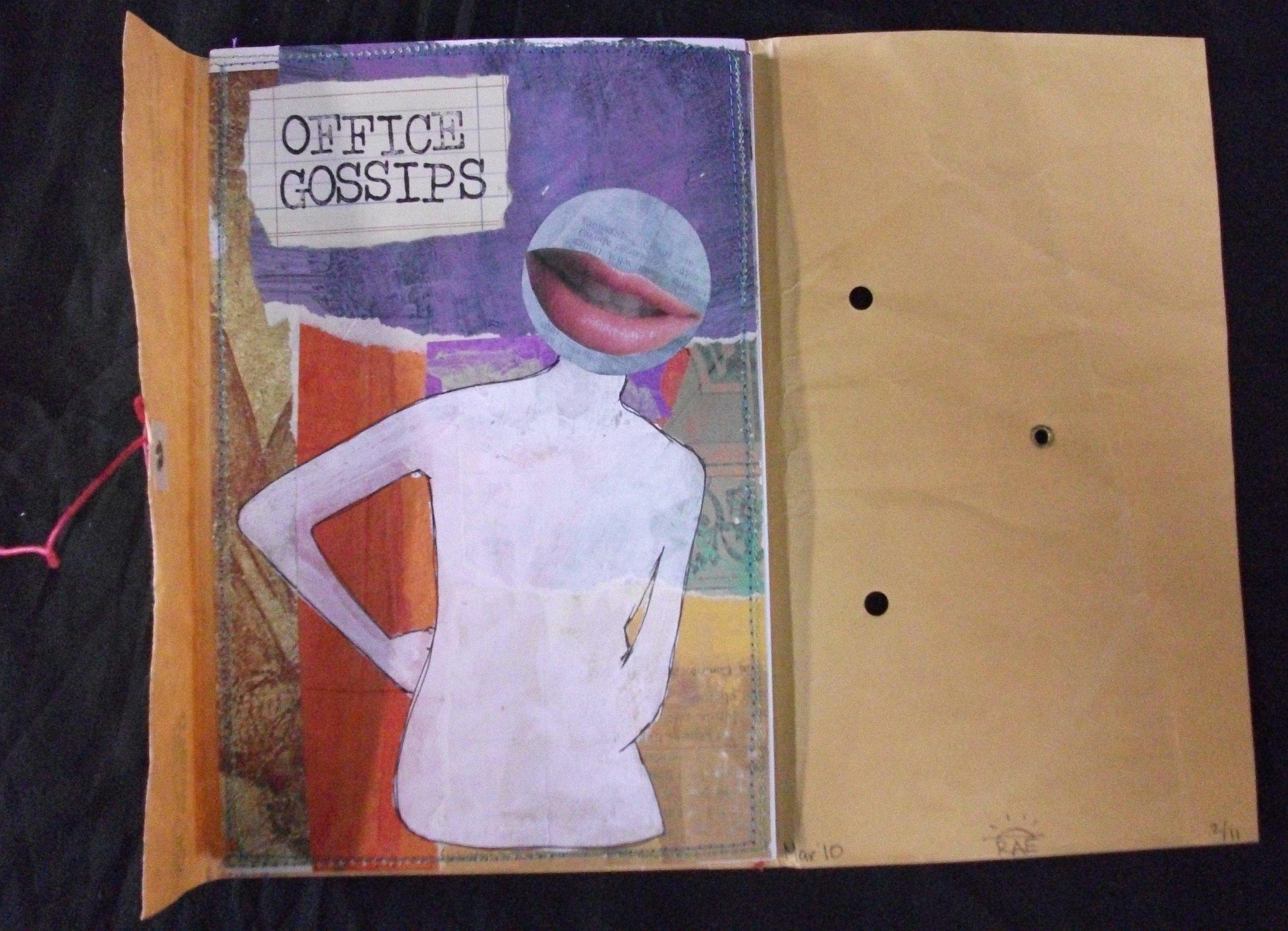 Rae Trujillo, Office Gossips, Mixed Media, 2010