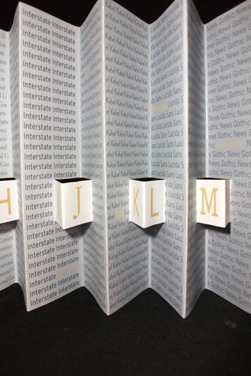 Andranika Tkachuk, The Designer's Alphabet, digital print, 2009
