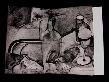 Nelle Martin, Excerpt=pg. 26, drypoint, Etching, Collagraph and Letterpress, 2006