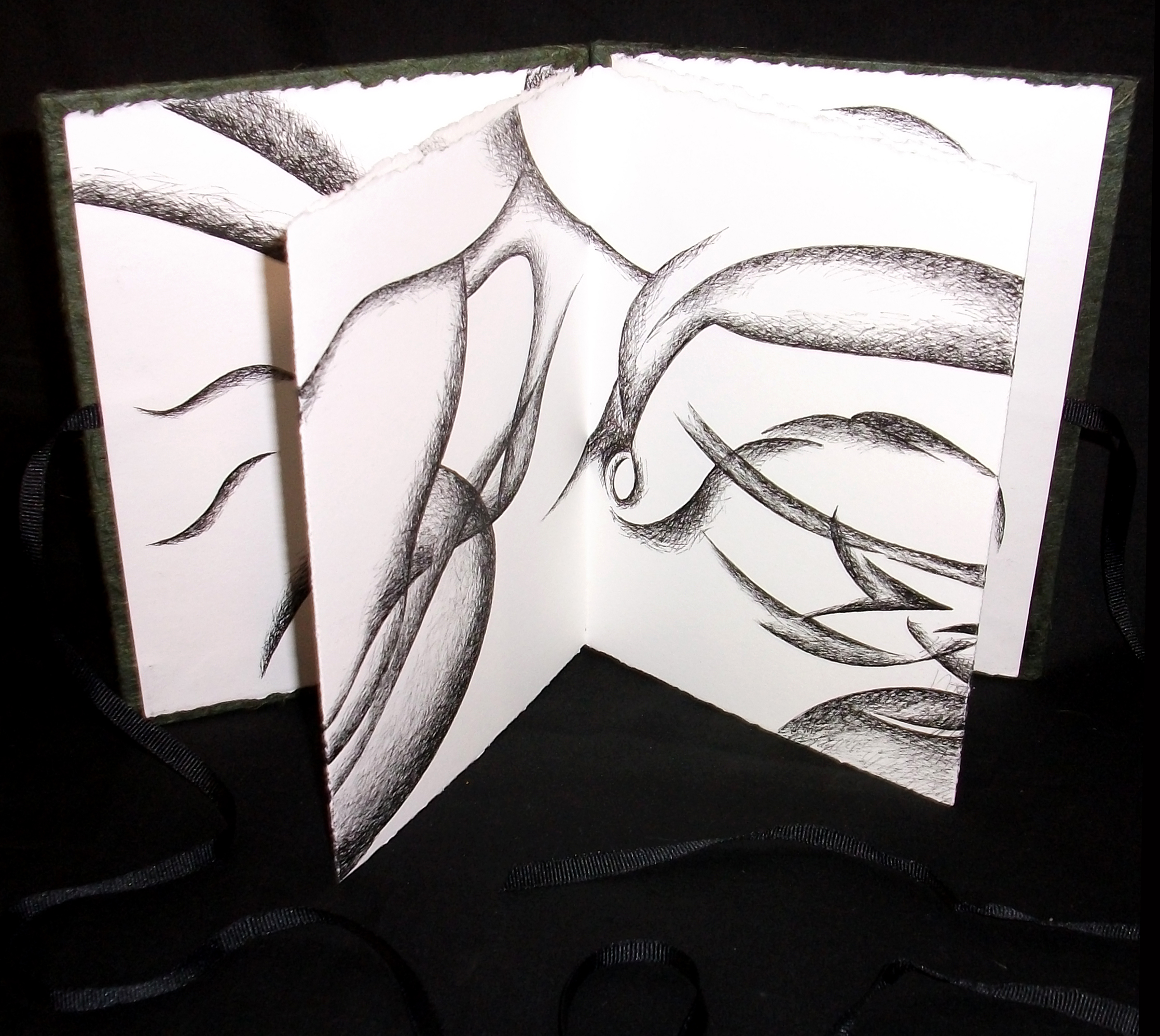 """Laurie Weller, """"Inside/Out,"""" Ink on Paper (drawing), 2012, TX"""