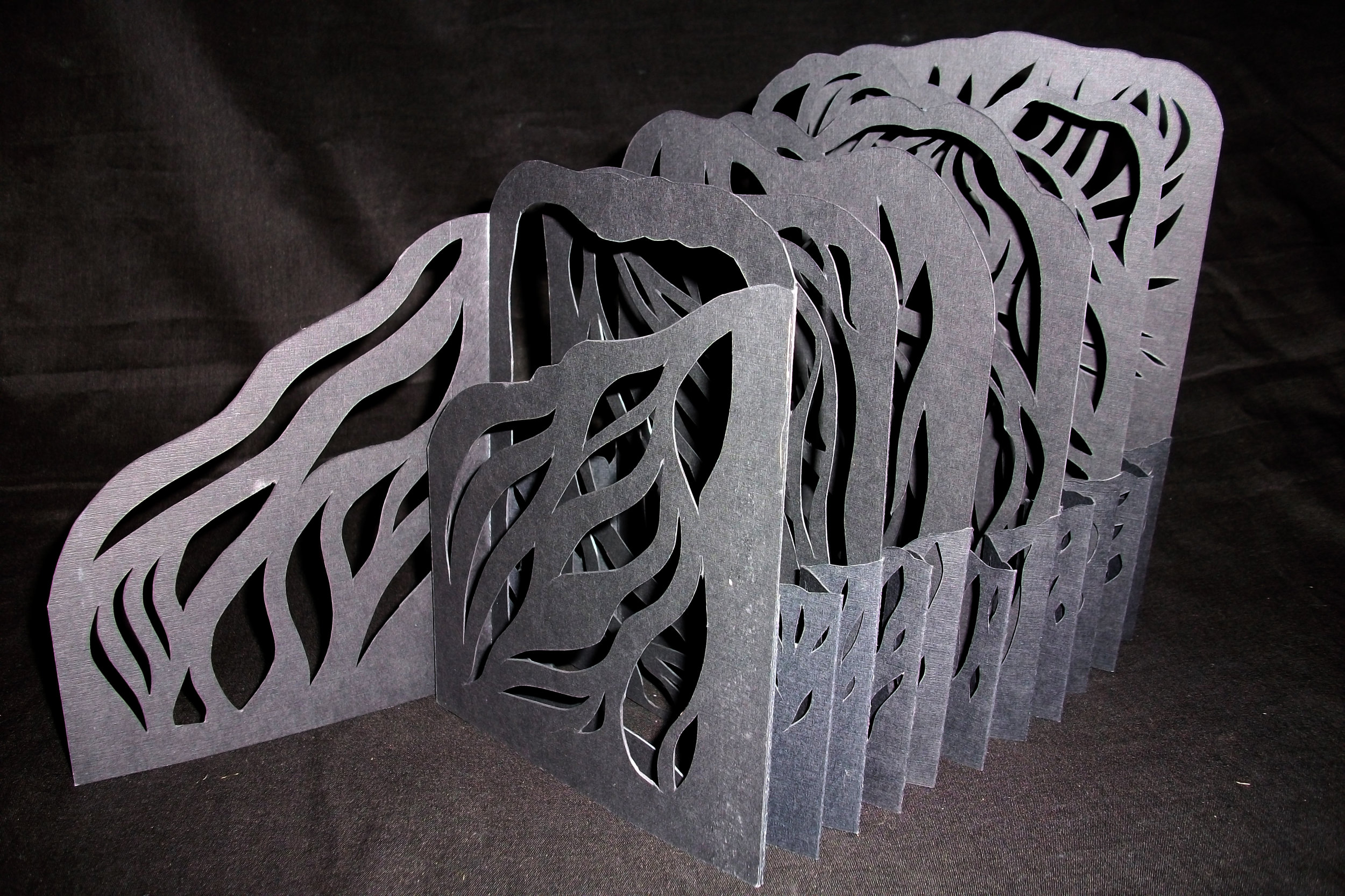 """Carol Norby, """"RavensWood,"""" paper, handcut, 2014 ,NC"""