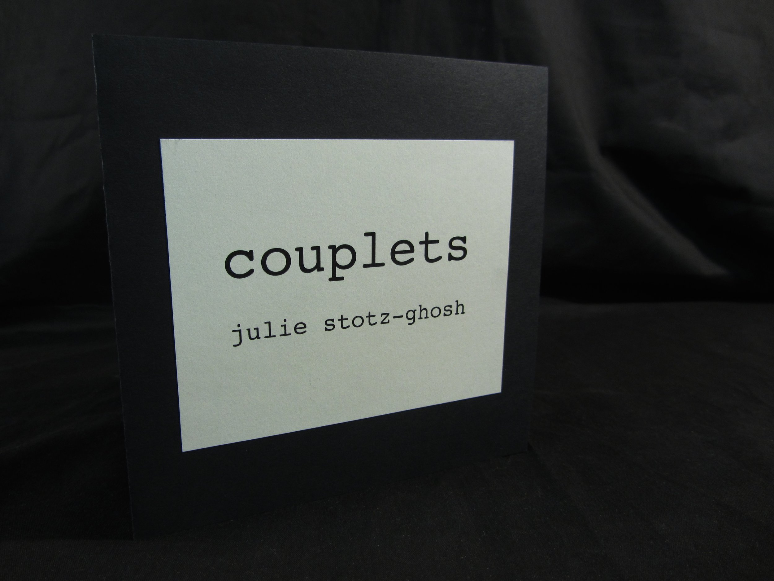 """Julie Stotz-Ghosh, """"Couplets,"""" Paper, photos (orignal photography and poetry), 2014, Portage, MI"""