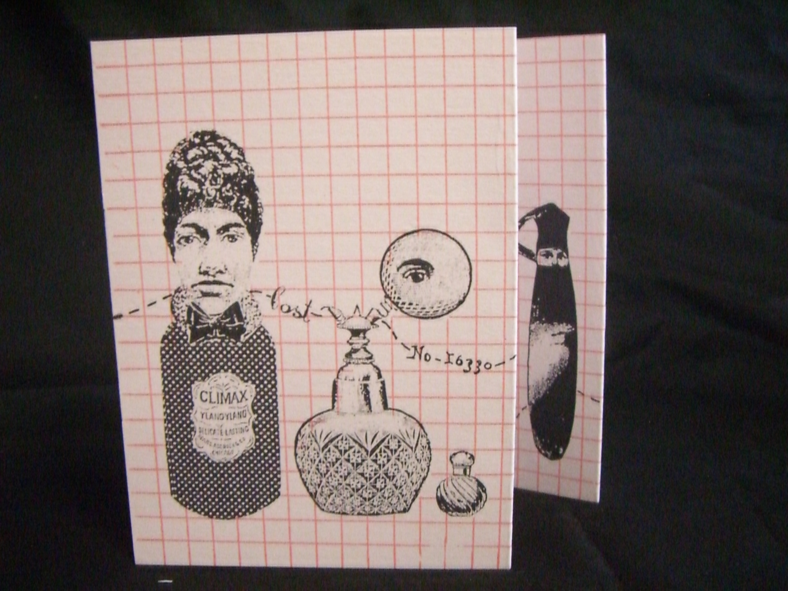 """Nicki McNaney, """"Sent of a Woman,"""" Hand Screen Printed, Illustration created using pen, collage and mono printing, 2012"""