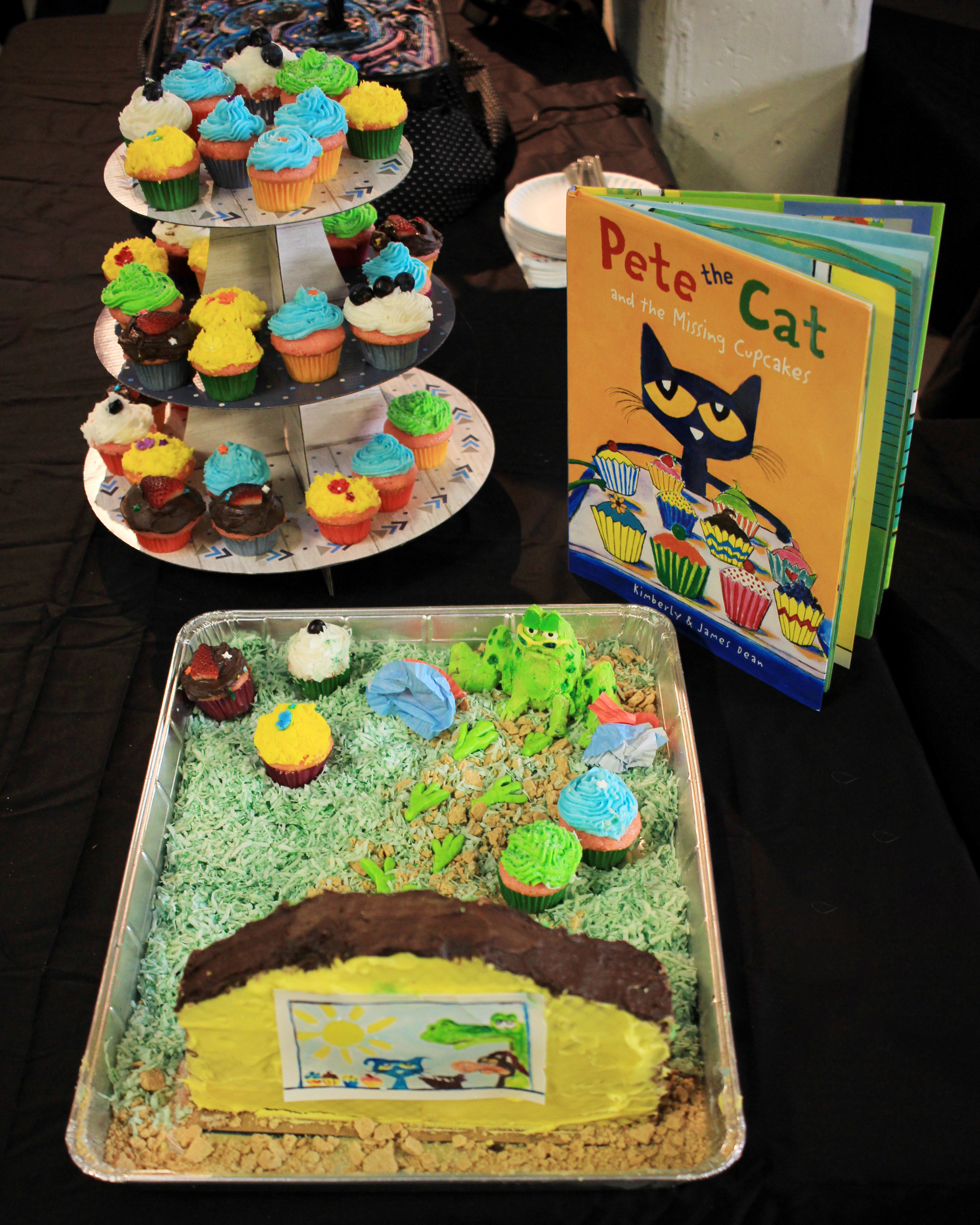 """Pete the Cat and the Missing Cupcakes"" by Emily Basse"