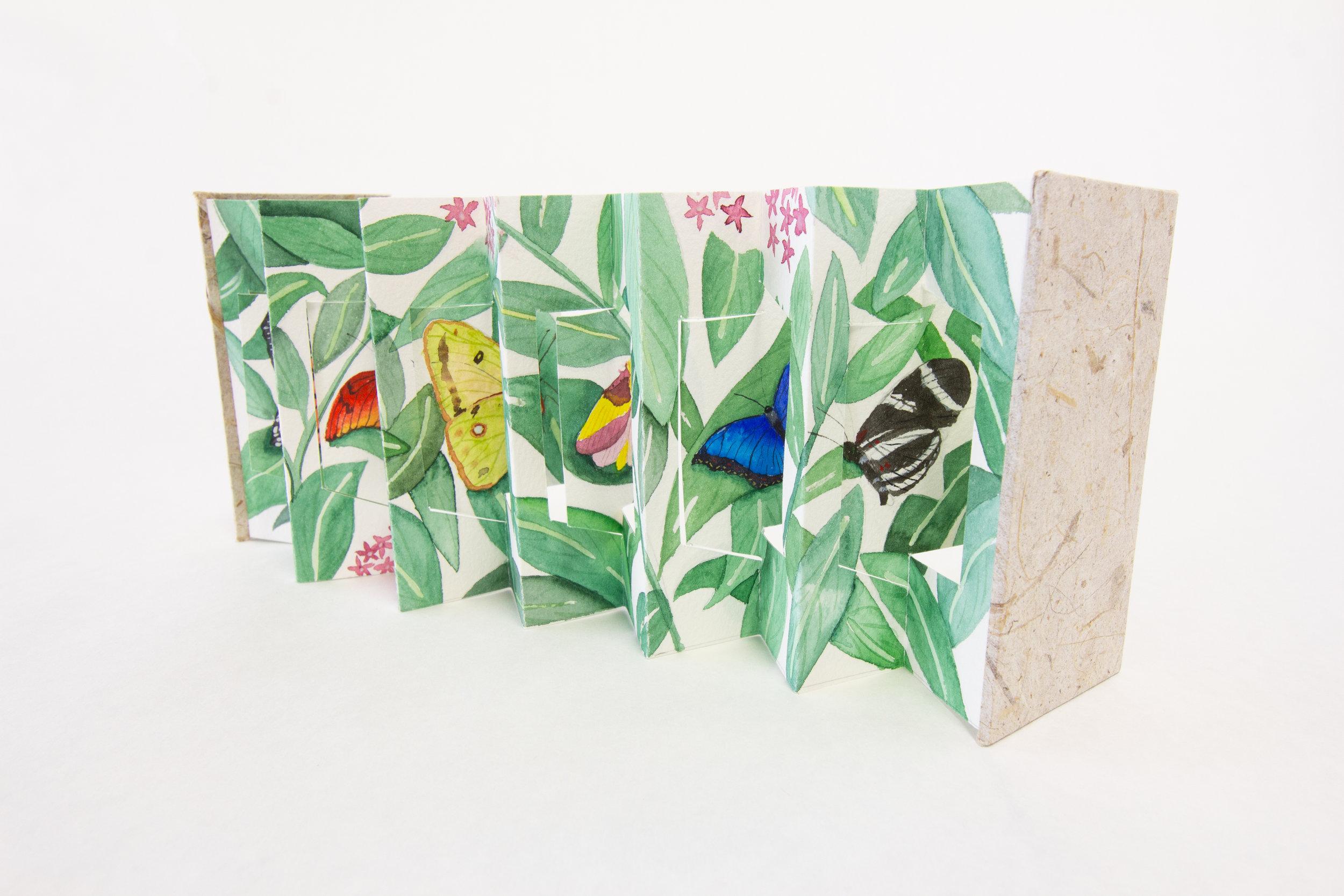 """Janet Reynolds, """"Flutter,"""" Watercolor, 2018 $475, Houston, TX"""