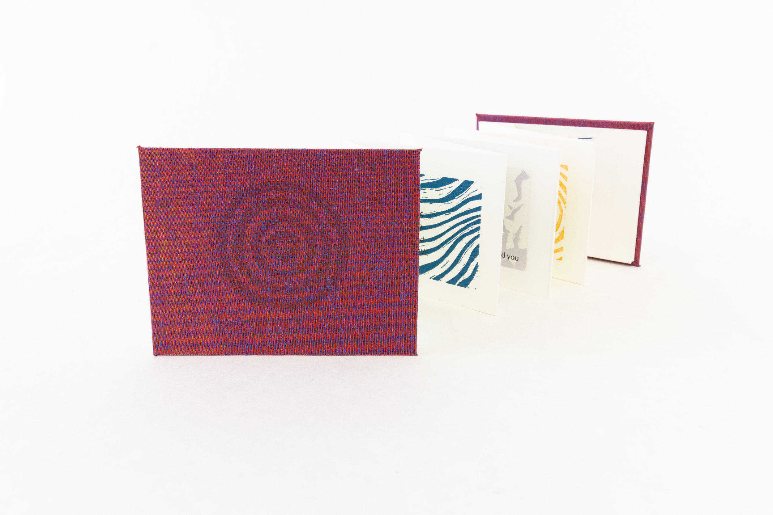 "Lydia Saylor, Scripps College Press, ""Reminders,"" Handset letterpress, linocuts, 2017, NFS, Claremont, CA"