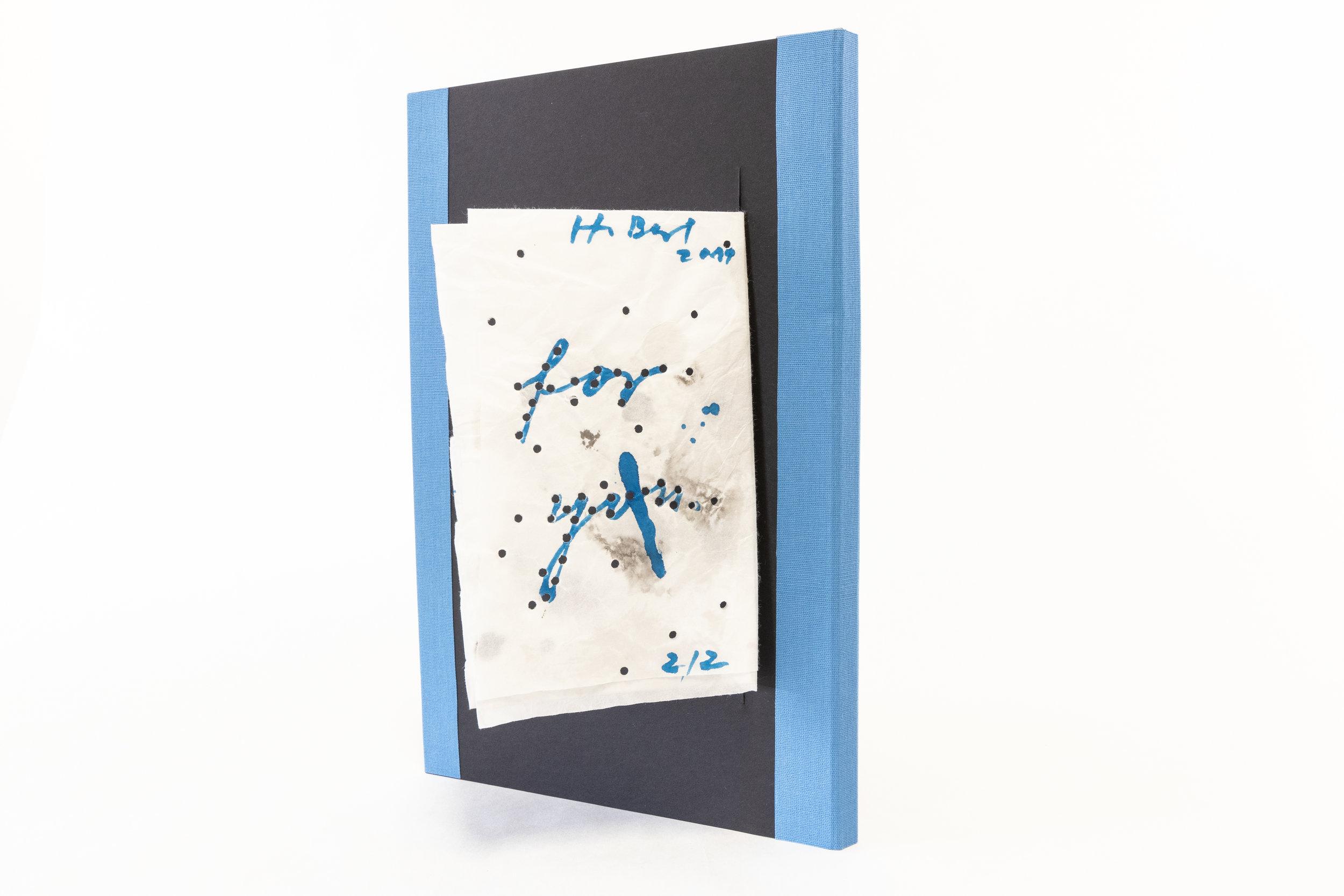 "Heike Berl, ""Draw Hope,"" Folded paper, ink, embossing, cardboard, 2019, Dresden, Germany"