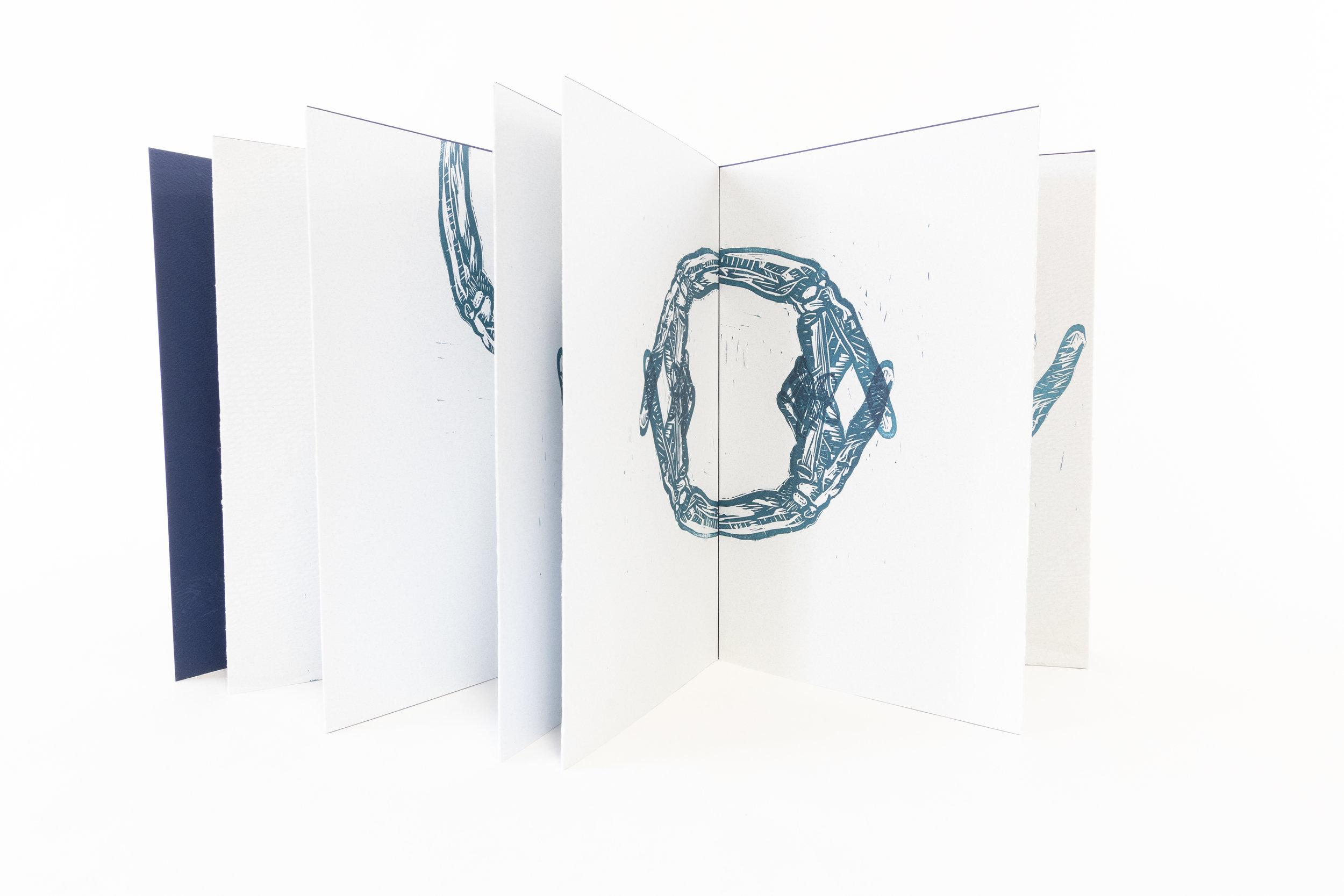 "Angelique Kopacz, ""Solace,"" Linoleum block, polymer plates, 2018, $225, Philadelphia, PA"