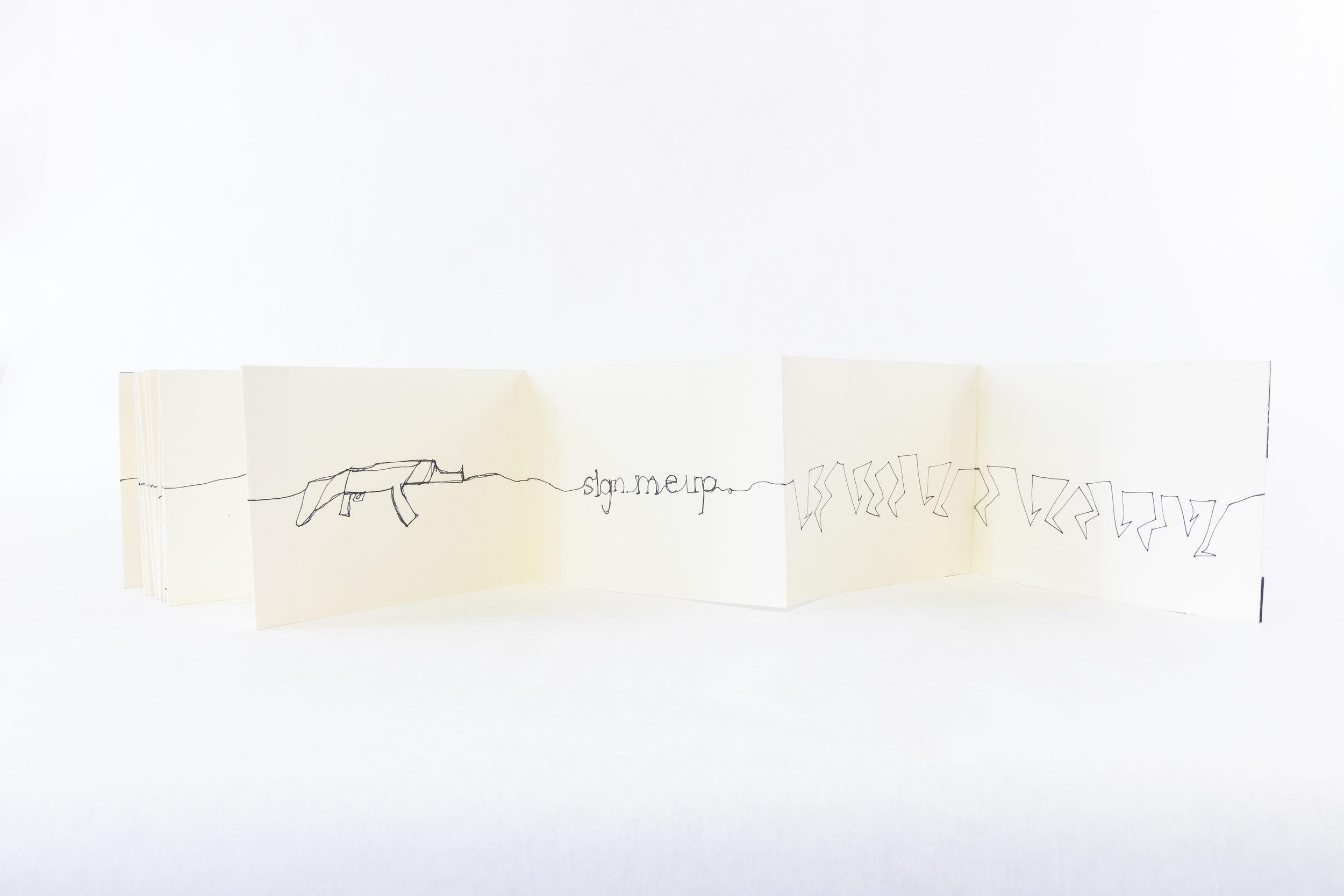 "VM Leon, ""Eighteen,"" Pen, 2013, $800, Dulles, VA"