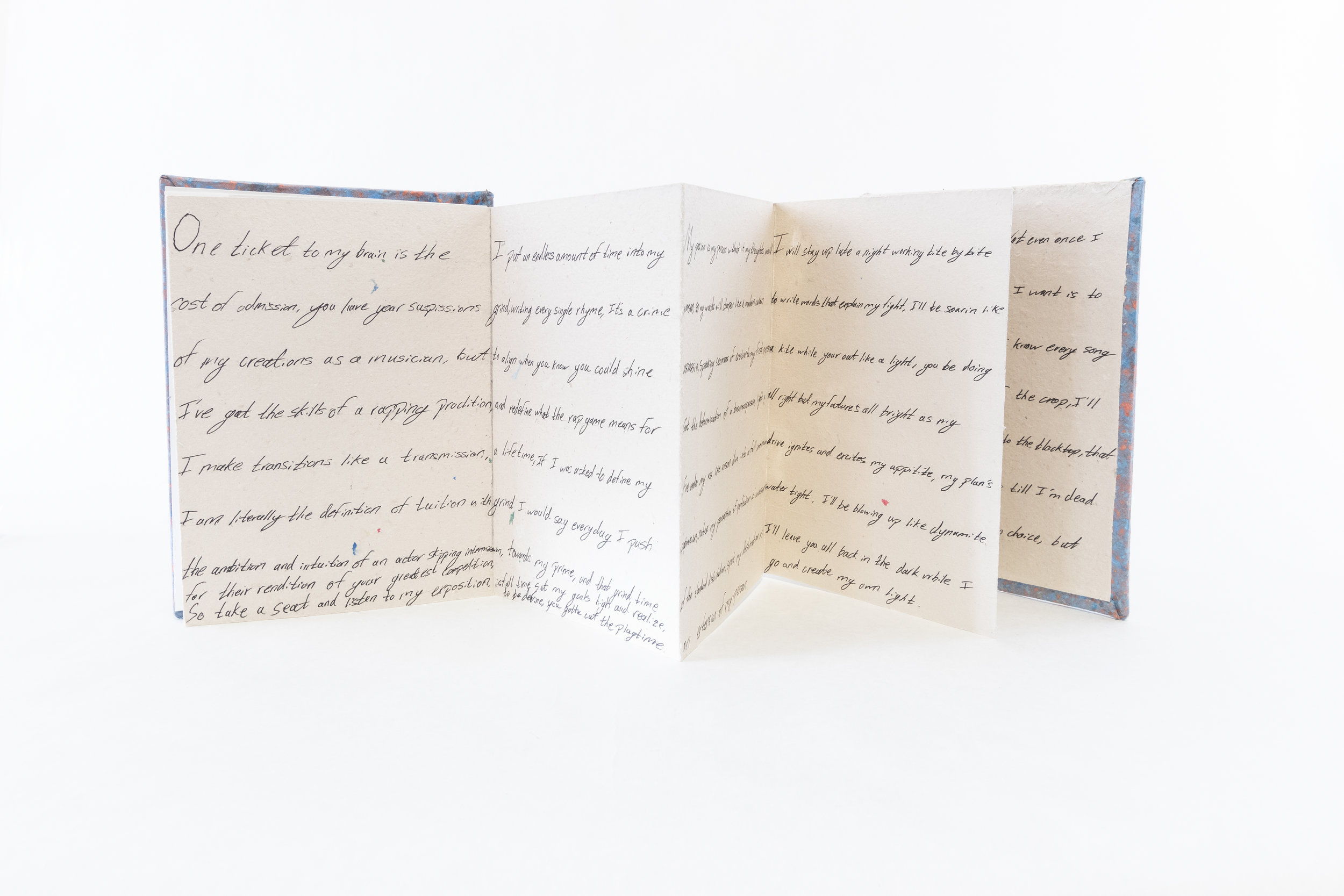 "Howl,""Passion//Distortion,"" Handmade paper and ink, 2019, Kalamazoo, MI"