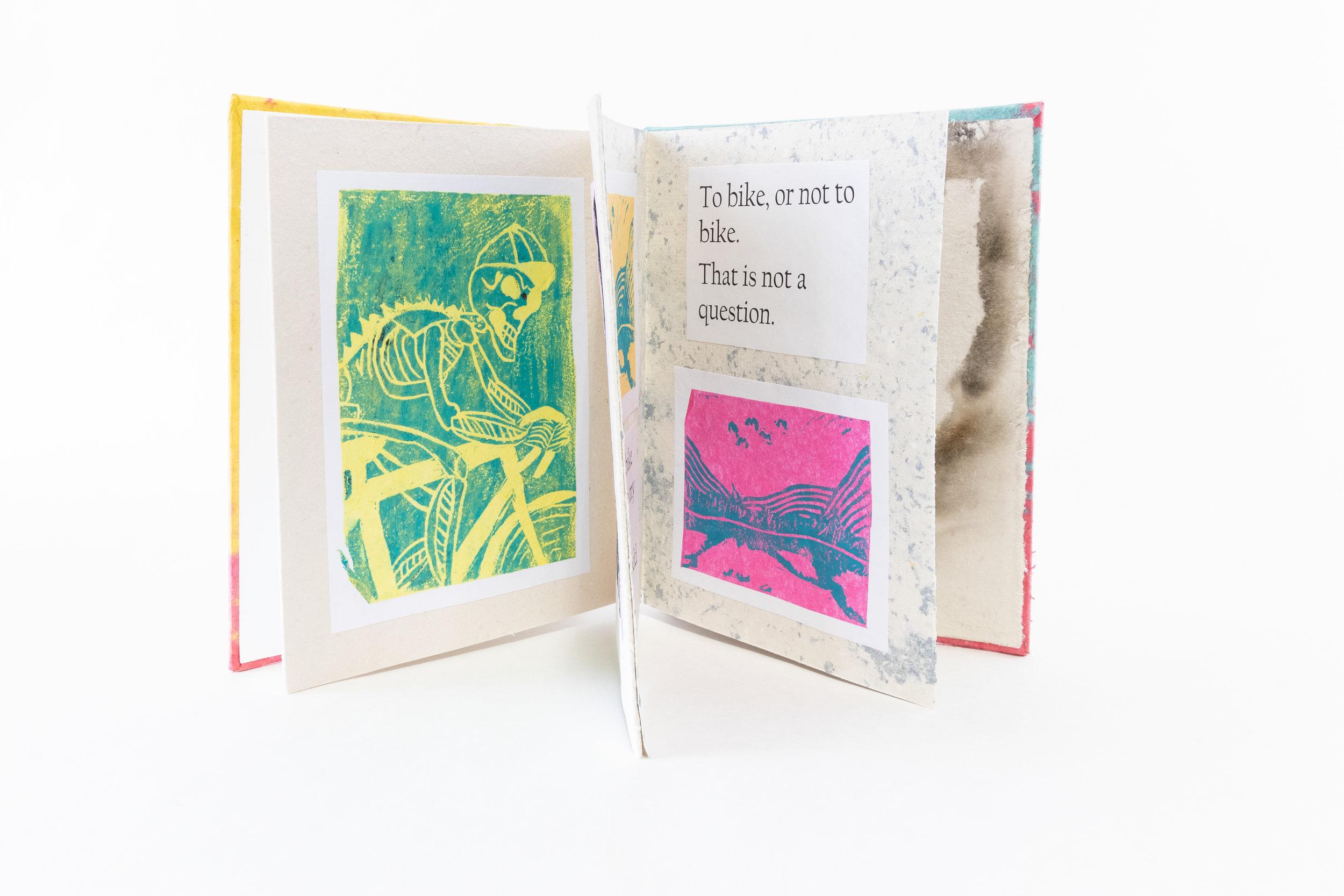 "Reid Larson,""Life Behind Bars,"" Accordion Book/ink prints and handmade paper, 2019, $50, Plover, WI"