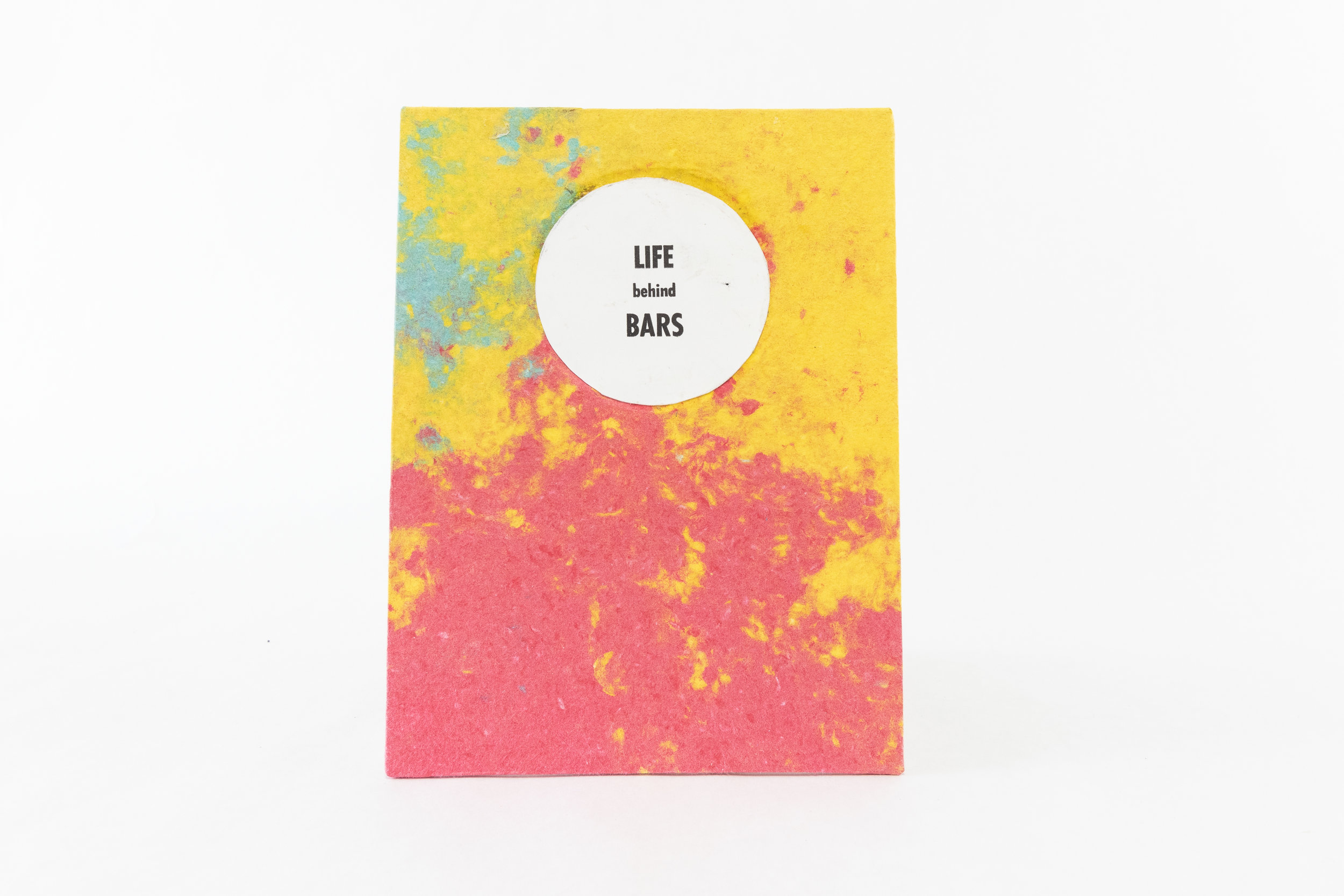 "Reid Larson, ""Life Behind Bars,"" Accordion Book/ink prints and handmade paper, 2019, $50, Plover, WI"
