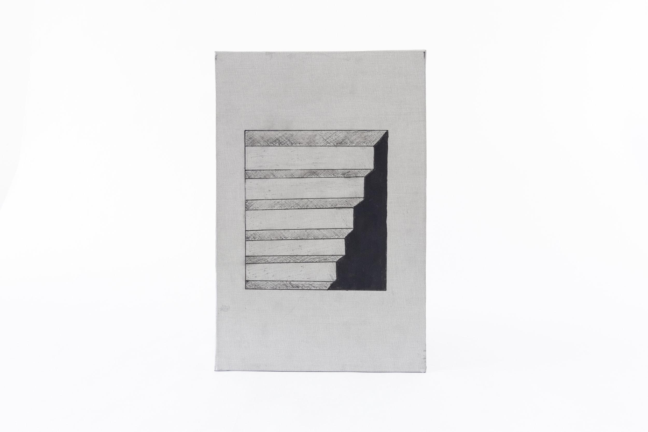 "Lucas Neujahar,""Accordion Book--Illusions,"" Pen and Ink, 2019, NFS, Delton, MI"