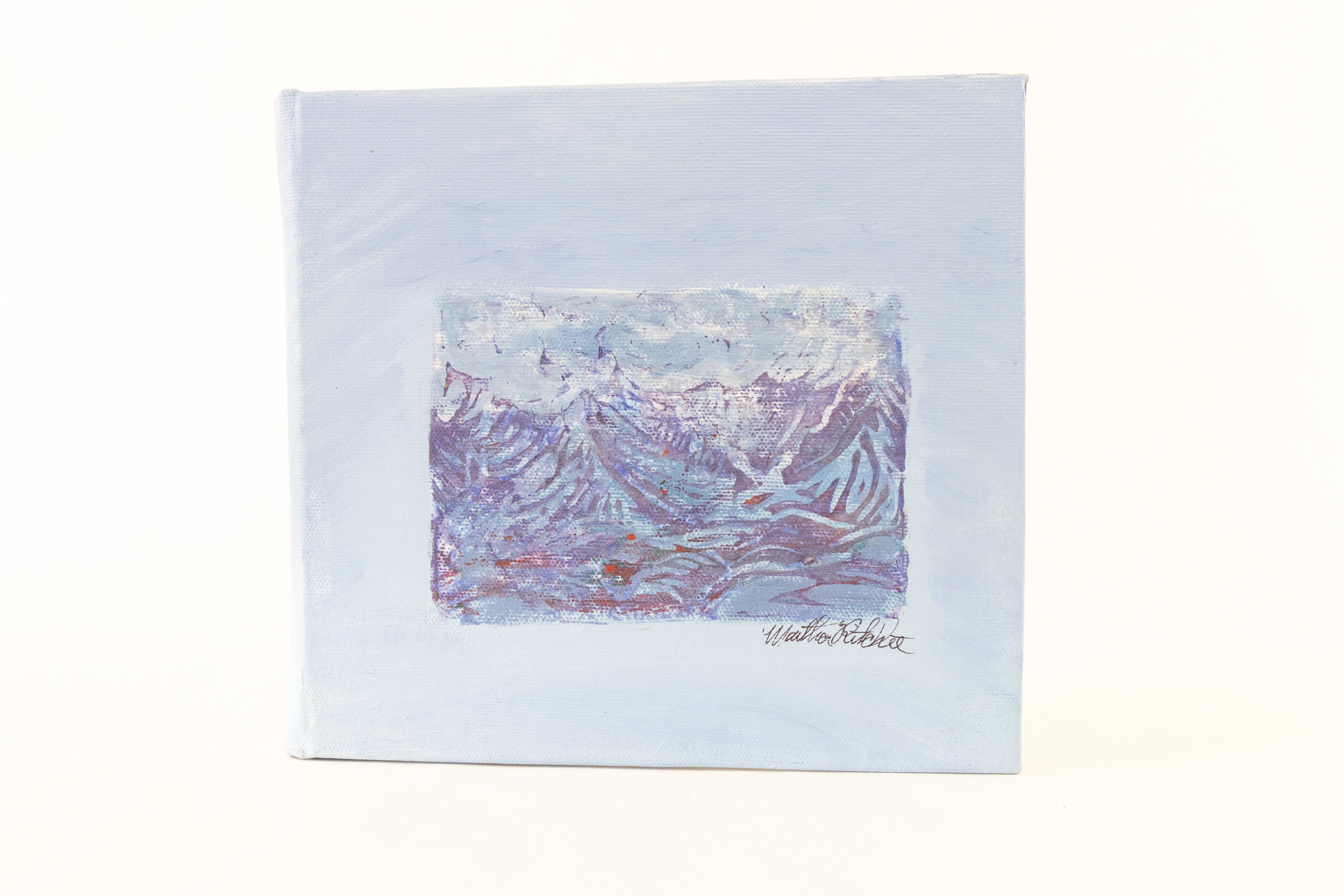 "Martha Jane Ritchie,""Tribute to Hokusai-36 Mountain Prints-Book II,"" Mixed Medium, Styrofoam prints on rag paper, 2016, $120, Haines Jct, Canada"