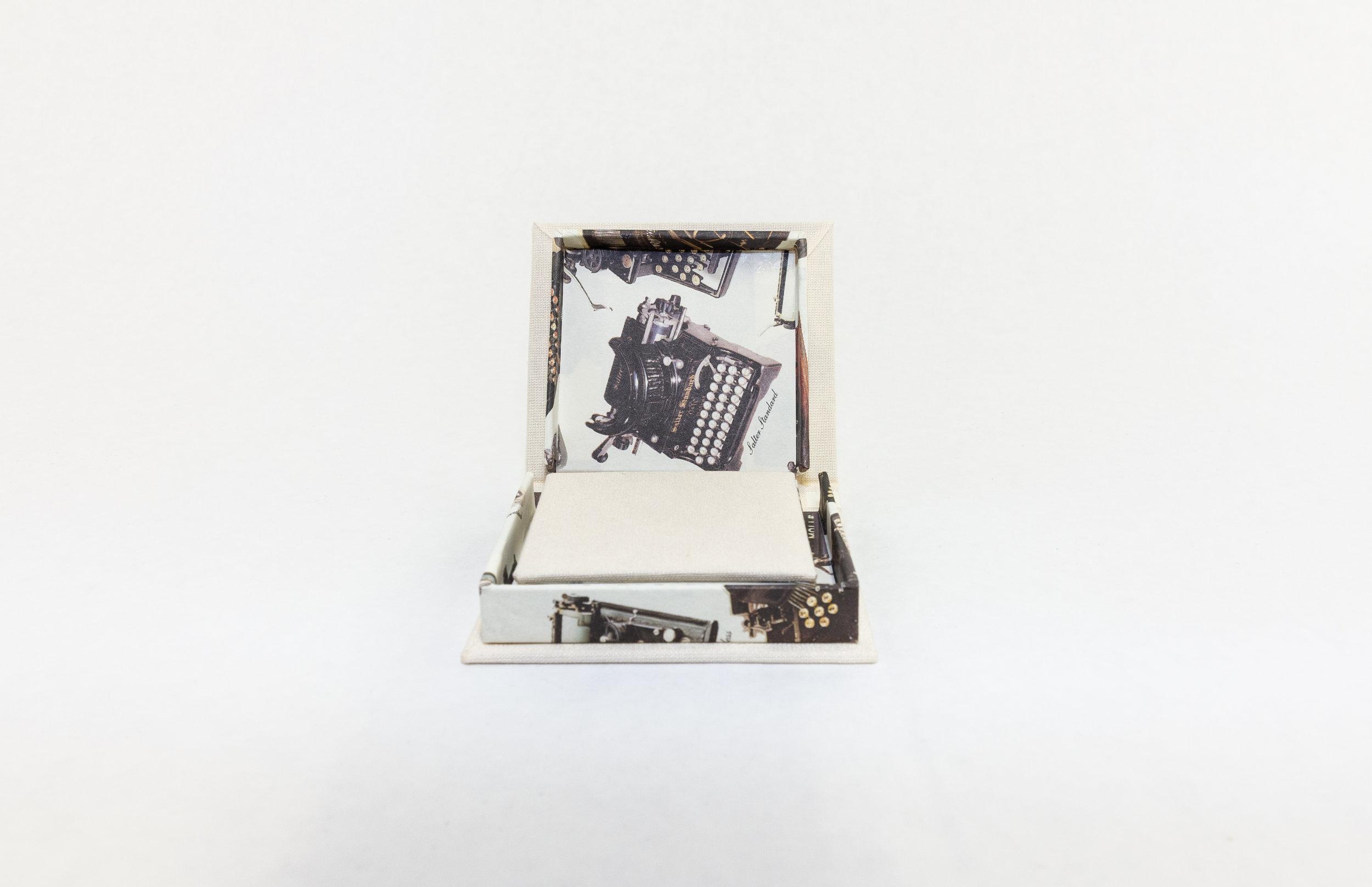 "Elizabeth Teviotdale, ""She Wrote,"" Laser Printing, Commercial Paper, Bookcloth, 2019, $50, Kalamazoo, MI"
