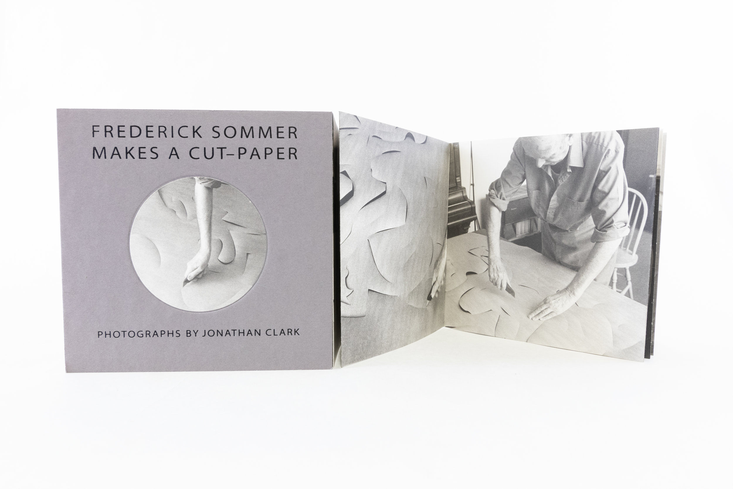 """Jonathan Clark, Frederick Sommer, Artichoke Editions, """"Cut-Paper,"""" Offset lithography, 2000, $125, Mountain View, CA"""