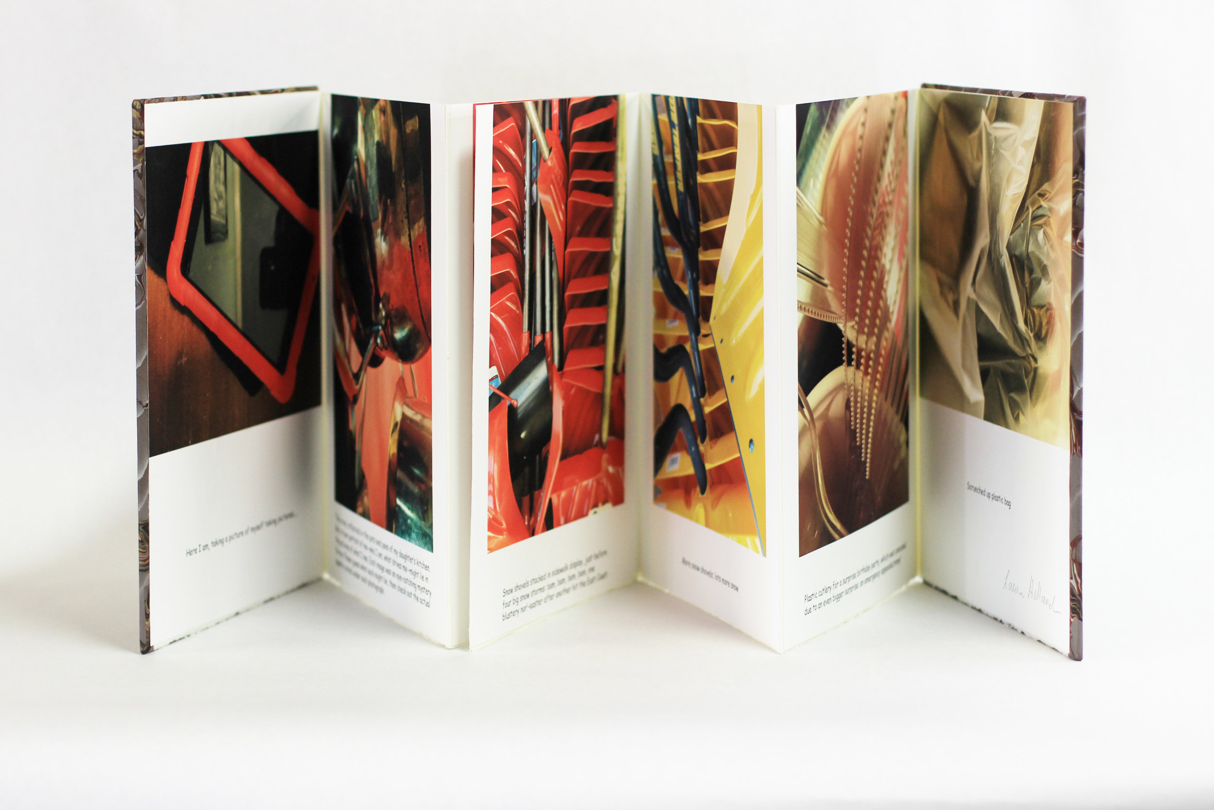 "Laura Holland, ""Self-Portrait,"" Photographs in 8 panel accordion book, 2018, $400, Amherst MA"