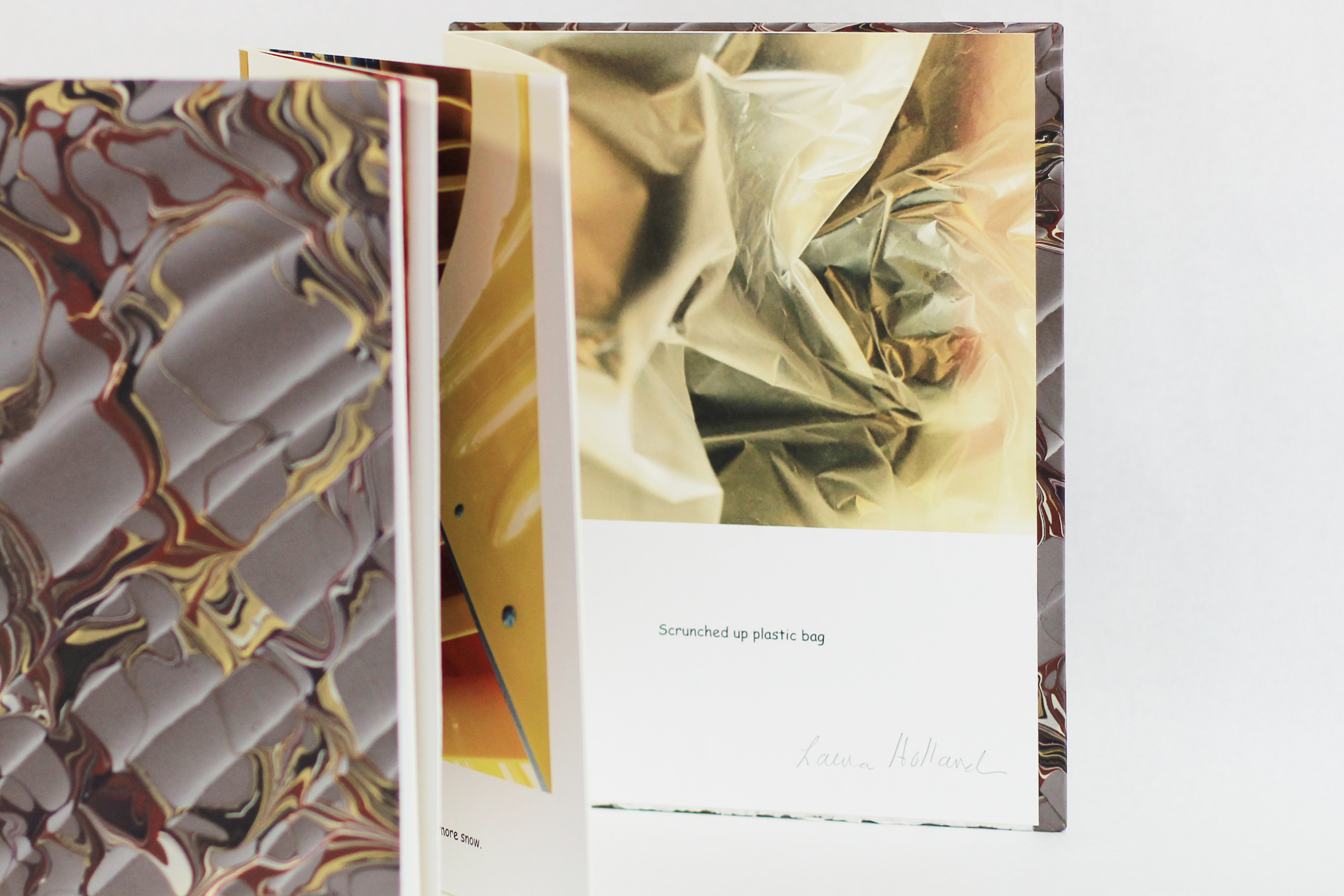 """Laura Holland, """"Self-Portrait,"""" Photographs in 8 panel accordion book, 2018, $400, Amherst MA"""