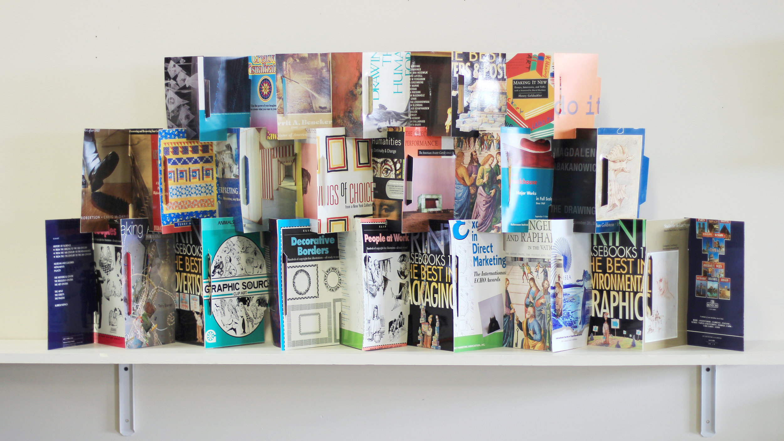 "V VanAmeyden,""(re)collection,"" paperback book covers, 2019, $250, Battle Creek, MI"