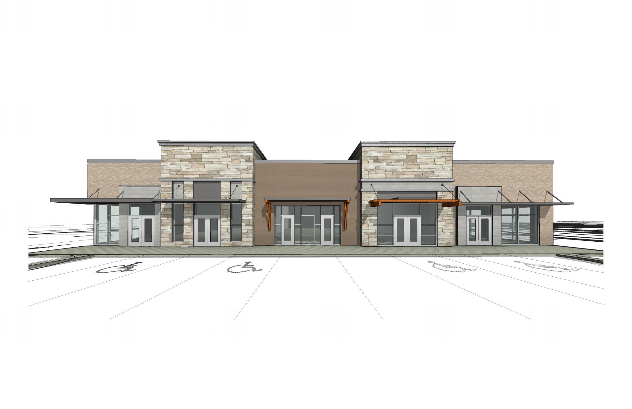 New Gull Road Retail Center Rendering