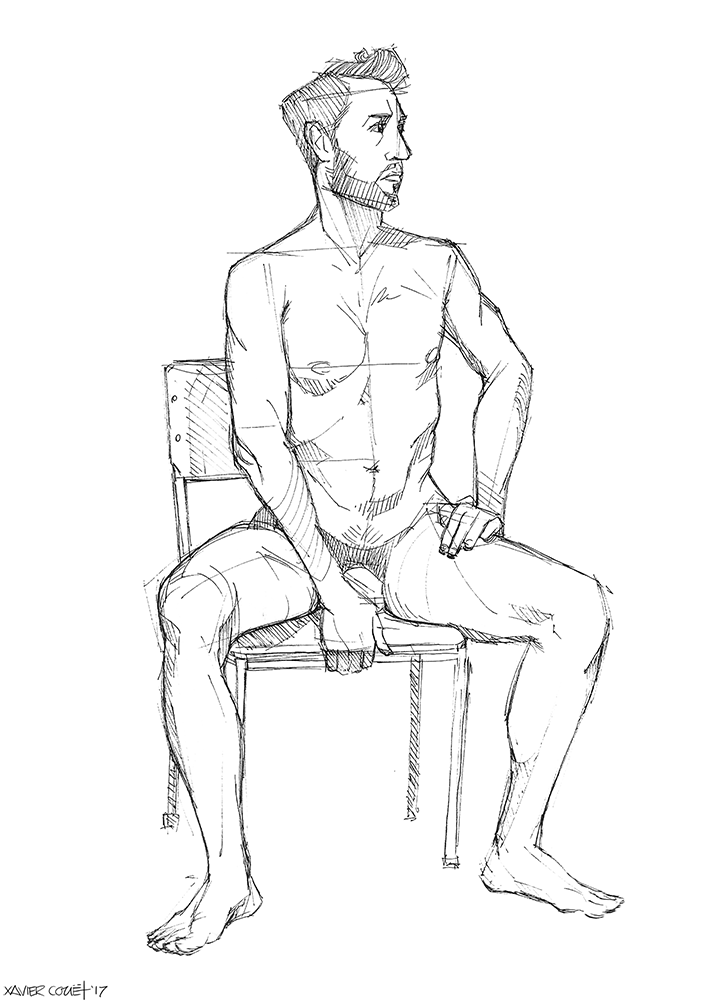 Sitting Man / Homme assis   03/2017