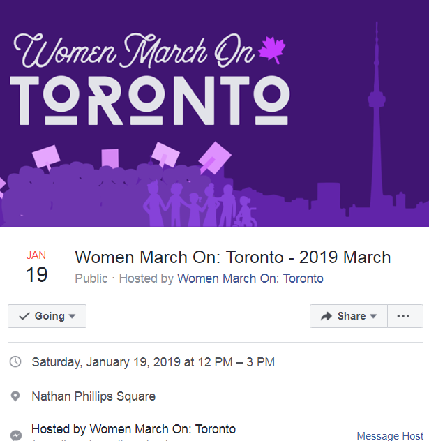 Dawn T Maracle will once again be opening the Toronto Women's March. Get there early: she is on stage at noon!