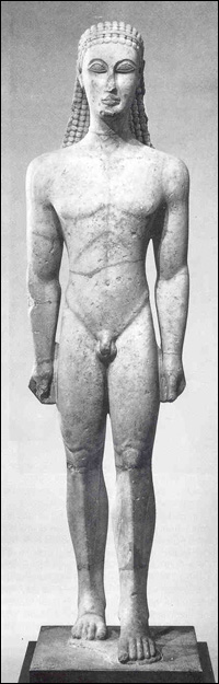 An example of European sculpture before contrapposto